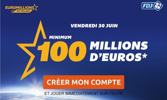Jackpot Euromillions du 30 juin 2017