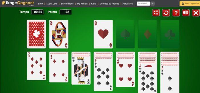 Solitaire 1 carte de Tirage-Gagnant.com