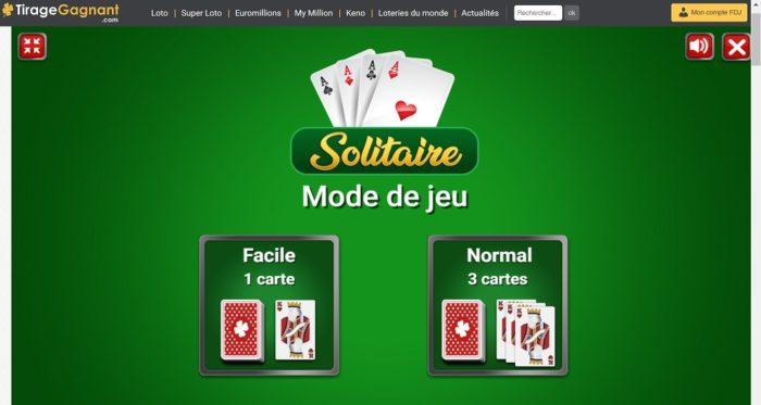 Variantes du jeu Solitaire par Tirage-gagnant.com